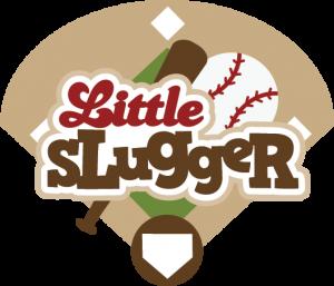 Little Slugger SVG scrapbook title baseball svg t-ball svg sports svg files for scrapbooking