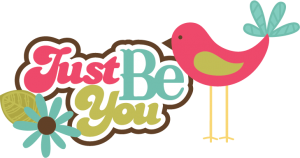 Just Be You SVG scrapbook title bird svg file flower svg file for cards scrapbooking free svgs