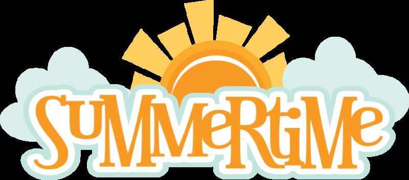 Summertime SVG scrapbook title summer svg files sun svg file