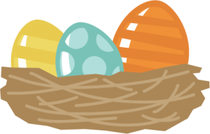 Easter Eggs In Nest SVG files for scrapbooking free svgs cute svg cuts easter svgs for cutting machines