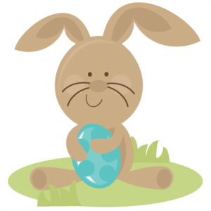Easter Bunny Holding Eggs SVG files easter svg file bunny svg file free svgs easter svg cuts