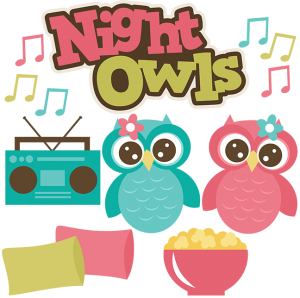 Night Owls SVG files sleepover svg files popcorn svg file pillow svgs owl svg file friends svgs