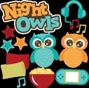 Night Owls SVG files sleepover svg files popcorn svg file pillow svgs owl svg file friends svgs