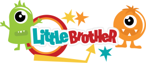 Little Brother SVG scrapbook title brother svg file monster svg cuts free svgs svgs for cricut scal