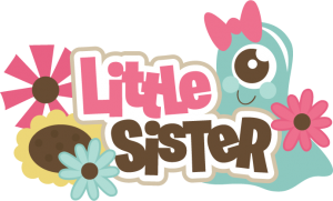 Little Sister SVG scrapbook title brother svg file monster svg cuts free svgs svgs for cricut scal