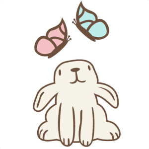Bunny Watching Butterflies SVG files for cutting machines svg files for cameo free svg files svg cuts