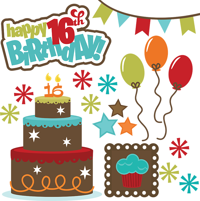 Happy 16th Birthday SVG Files For Cutting Machines Teen