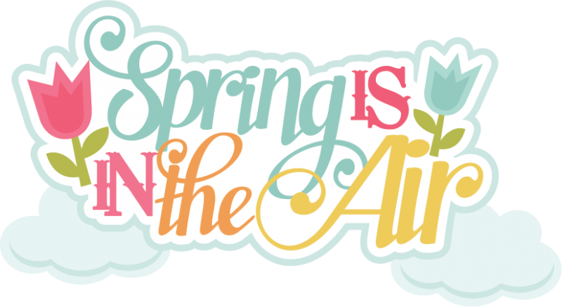 spring is in the air svg scrapbook title spring svg files