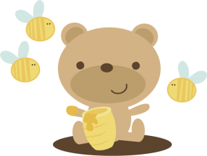 Bear With Honey Pot SVG scrapbook file bear svg file cute bear svg file cute svg cuts free svgs