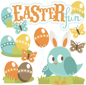 Easter Fun SVG scrapbook title easter svg files easter cut files easter svg files free svgs cute svg cuts
