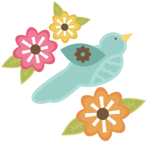 Bird With Flowers SVG files for cutting machines free svg files free bird svg cut files cute svg cuts