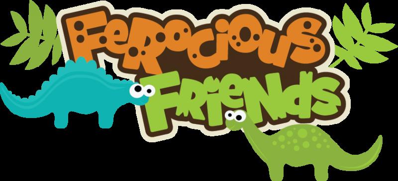 Ferocious Friends Svg Scrapbook Title Dinosaur Svg File Dinosaur Svg