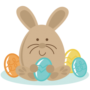 Bunny Sitting With Eggs SVG files easter svg file bunny svg file free svgs easter svg cuts