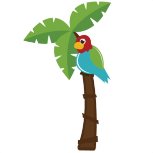 Parrot In Palm Tree SVG file for cutting machines parrot svg cut file parrot svg file for scrapbooking