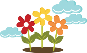 Flowers With Clouds SVG files for cutting machines flower svg cut files flower cut files for cricut
