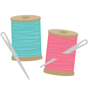 Needle & Thread SVG file for scrapbookin sewing svg cut files sewing svg files for cutting machines
