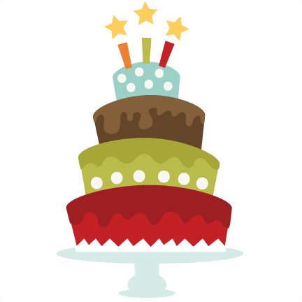 Birthday Cake SVG cut file for cutting machines birthday