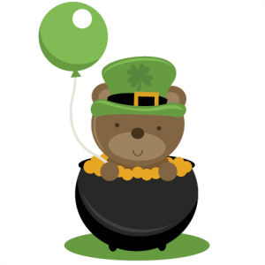 Ber In Pot Of Gold SVG cutting file St. Patrick's Day SVG cut file free svg files for scrapbooking