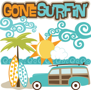 Gone Surfin' SVG files for scrapbooking surfing svg files beach svg files surfboard svg file for cutting machines