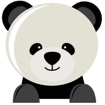 Panda Bear Svg Fiel For Scrapbooking Panda Bear Svg Cut