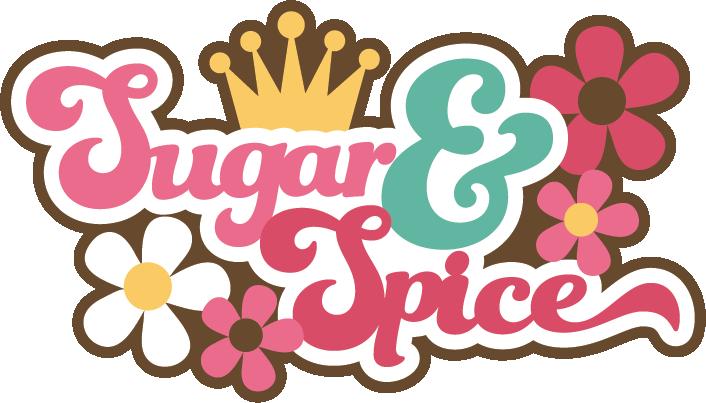 Sugar & Spice SVG scrapbook title girl svg scrapbook title girl ...