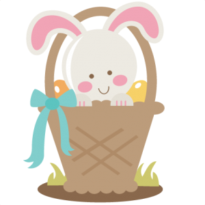 Bunny In Easter Basket SVG cutting file for scrapbooking easter svg cut file easter bunny svg cut