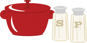Pot With Salt & Pepper SVG cutting files cooking svg files cooking svg cut files free svg cuts