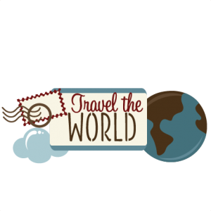 Travel The World SVG scrapbook title travel svg files vacation svg files free svg cut files for cutting machines