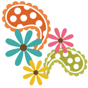 Paisley With Flowers SVG file free svgs free svg files free svg cuts free svg cut files Miss Kate free svgs