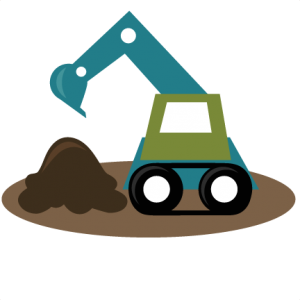 Backhoe SVG file excavator svg file tractor svg files boy svg files svg cut files for cutting machines
