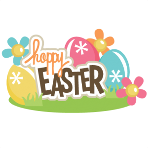 Hoppy Easter Title SVG scrapbook title easter svg files easter eggs svg files free svgs