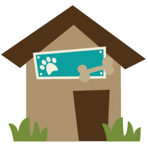 Dog House SVG file for scrapbooking dog house svg cut file dog house cut file for cutting machines