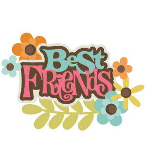 Best Friends SVG scrapbook title best friends svg file for scrapbooking friends svg cut files
