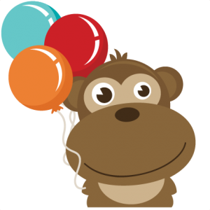 Monkey Holding Balloons SVG file for scrapbooking free svg files free svgs free svg cut files