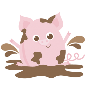 Pig In Mud SVG files for scrapbooking pig svg file pig svg cut file free svgs free svg files free svg cuts
