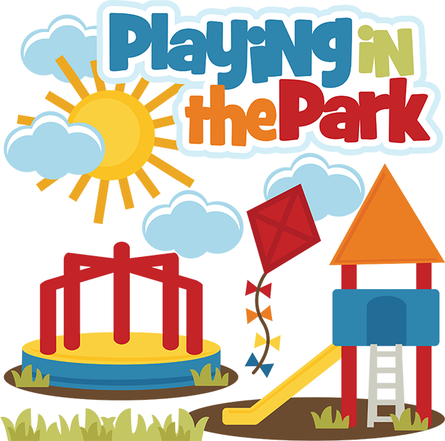 Playing In The Park SVG Files Playground Svg File Kite Merry Go Round Free Cuts
