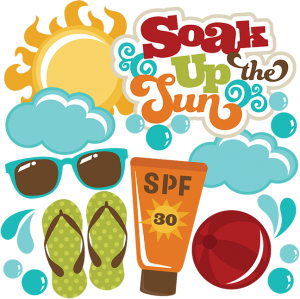 Soak Up The Sun SVG files for scrapbooking sun svg file beach ball svg file sunblock svg file