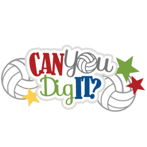 Can You Dig It? SVG scrapbook title volleyball svg file volley ball svg cut file free svgs free svg cuts