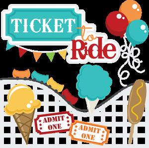 Ticket To Ride SVG files roller coaste svg file corn dog svg file ice cream cone svg file cotton candy svg file