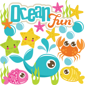 Ocean Fun SVG scrapbook cute svg cuts cut files for scrapbooking ocean svg cuts snorkeling svg files