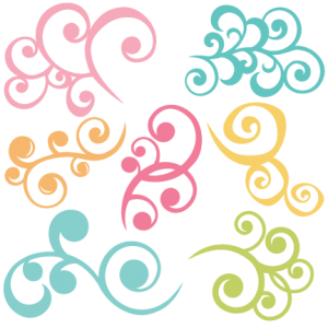 Swirls Set Of 7 SVG files swirl svg cut files swirl svg files for scrapbooking free svgs free svg cut files