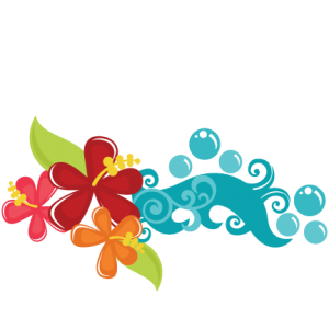Tropical Flowers SVG cut files tropical svg files beach svg files wave svg files hawaii svg files
