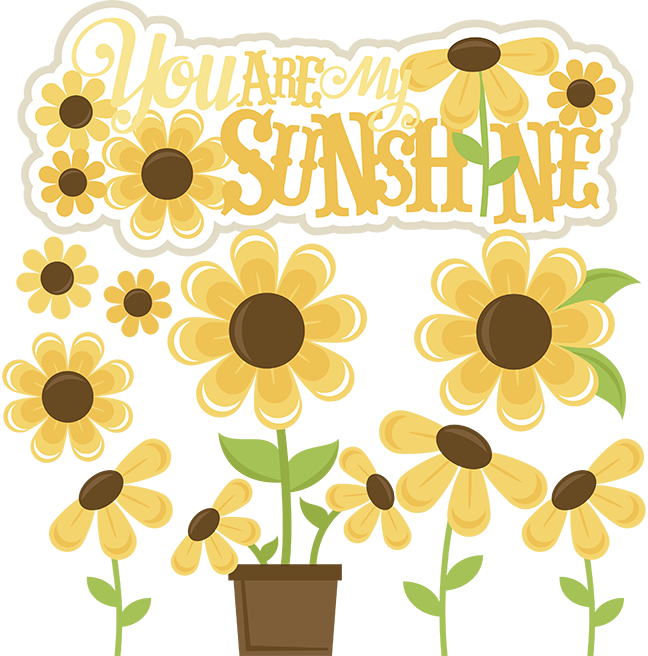 Image You Shunshin Png: You Are My Sunshine SVG Files Sunflower Svg Cut File