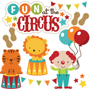 Fun At The Circus SVG files for scrapbooking circus svg files lion svg clown svg tiger svg file