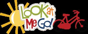 Look At Me Go! SVG scrapbook title bike svg cut file bike svg file bicycle svg file free svgs