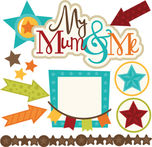 My Mum & Me SVG files for scrapbooking mum and son svg files stars svg cut files