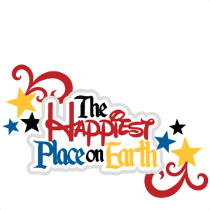 The Happiest Place On Earth SVG scrapbook title svg files for cutting machines free svgs