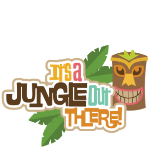 It's A Jungle Out There! SVG scrapbook title tropical svg scrapbook title tropical svg files