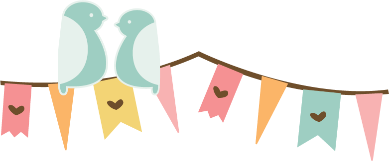 love birds on banner svg cut file for scrapbooking cardmaking bird