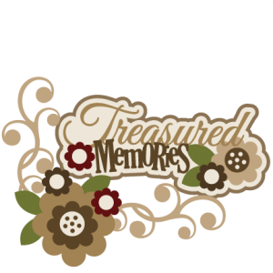 Treasured Memories SVG scrapbook title flower svg files flowers svg cut files free svgs